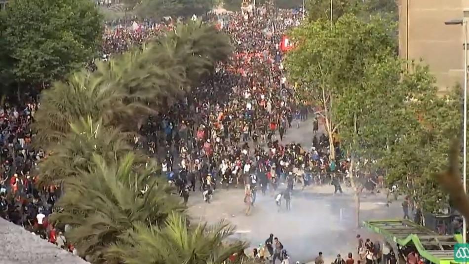 EN VIVO: A esta hora en la Plaza Italia en Santiago