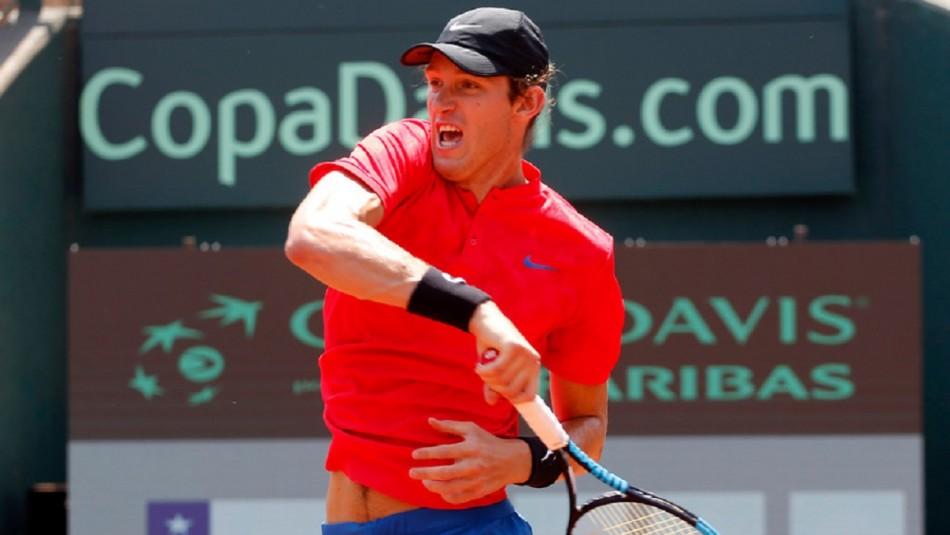 Nicolás Jarry abre la serie ante Argentina.