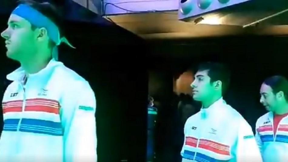 Hinchas chilenos en Madrid al equipo de Copa Davis: