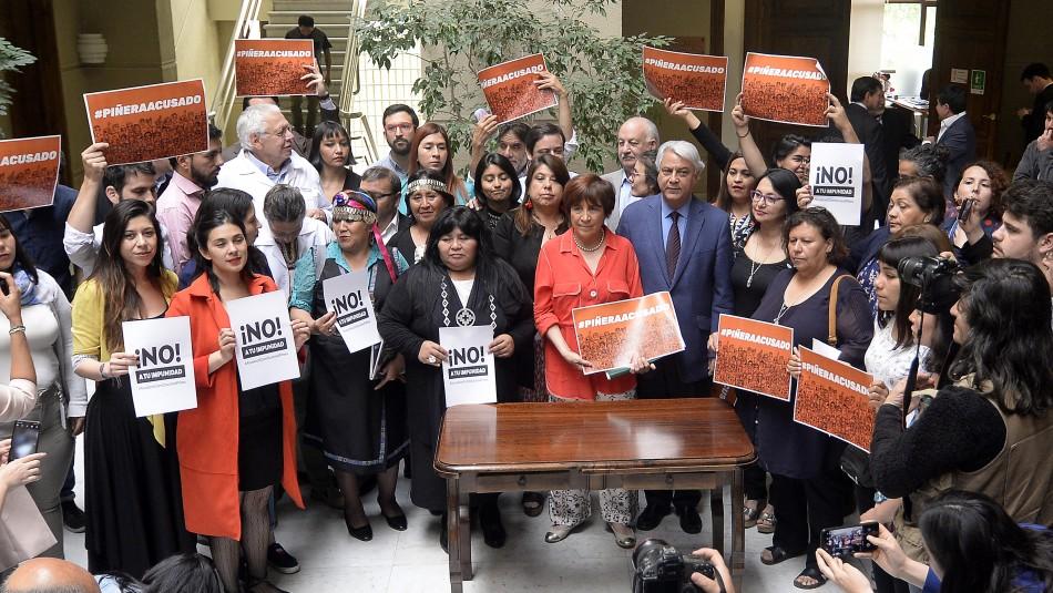 Presentan acusación constitucional contra el Presidente Sebastián Piñera