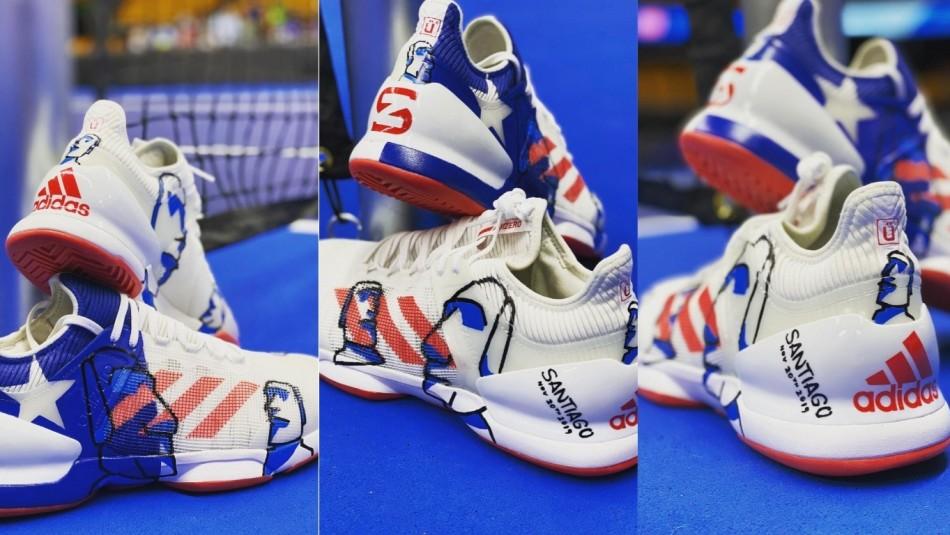 Las zapatillas personalizadas de Zverev.