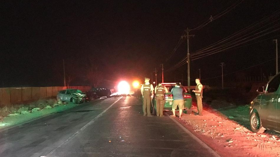 Cinco muertos y dos lesionados tras accidente vehicular en la comuna de Quilicura