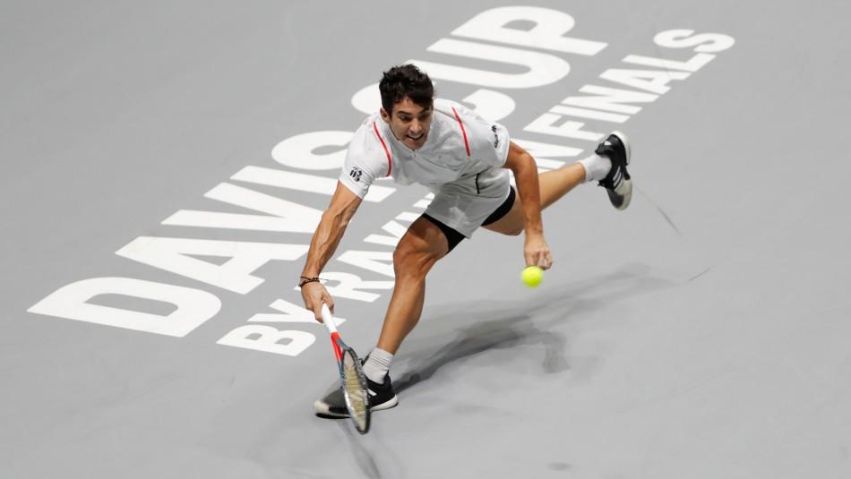 Cristian Garin busca triunfo en Copa Davis.