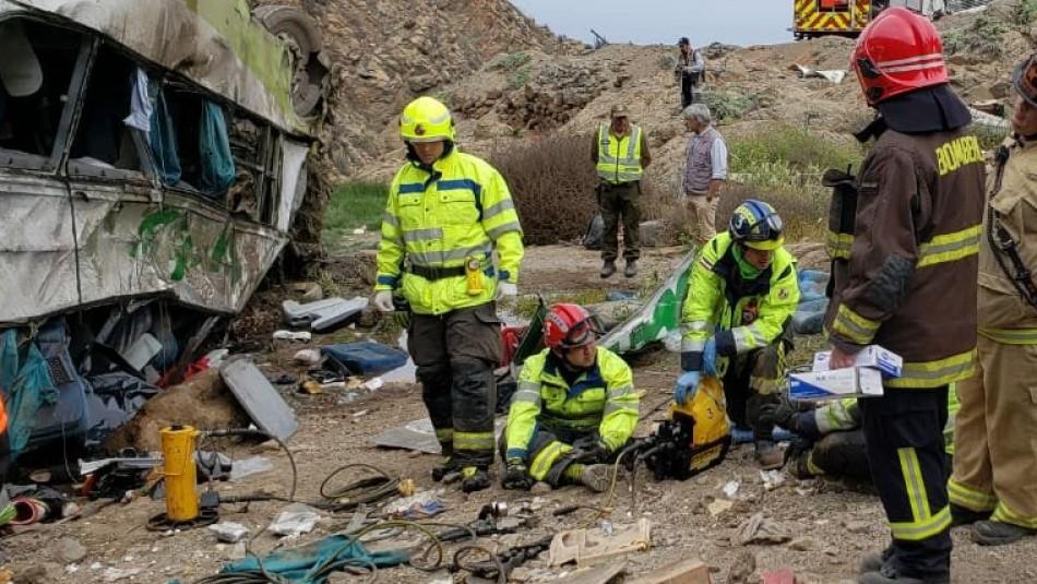 Fiscalía corrige el número de fallecidos por accidente en Taltal