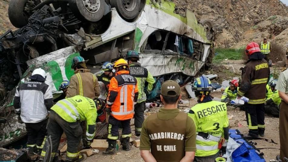 SML entrega nómina de los 21 fallecidos en accidente en Taltal