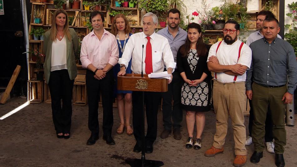 Presidente Piñera anuncia bono de $100 mil para más de un millón de familias