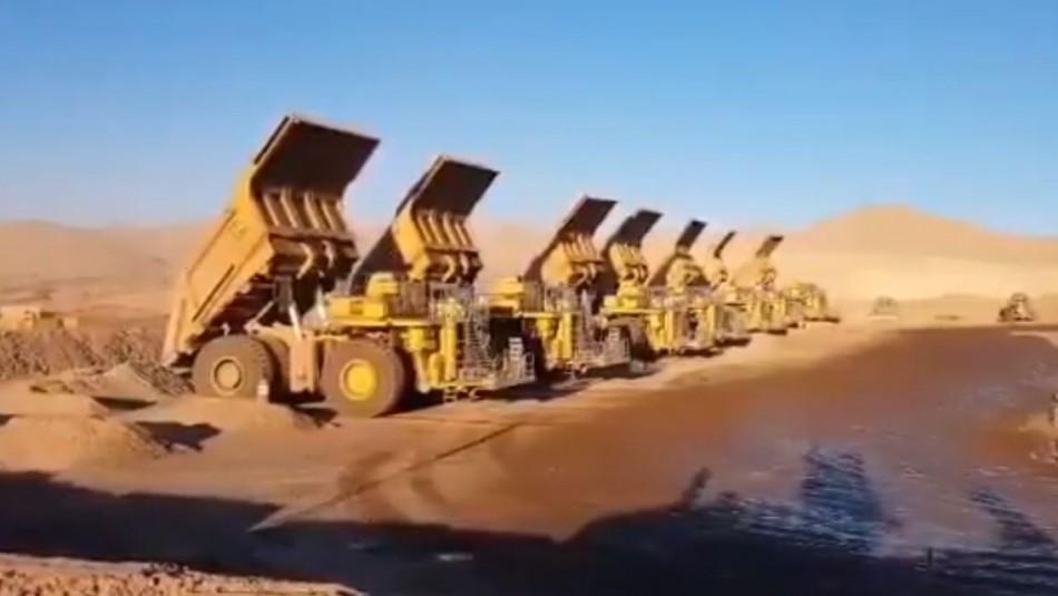 Mineros realizan emotivo homenaje a compañero fallecido en accidente de Taltal