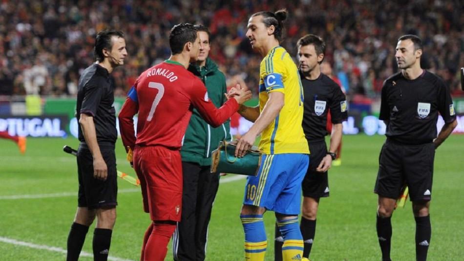 Zlatan Ibrahimovic apunta a Cristiano Ronaldo.