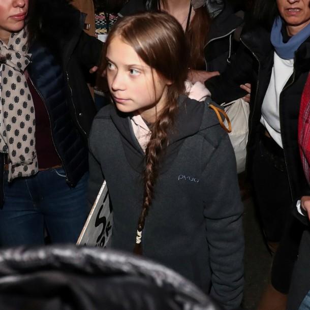 Greta Thumberg participa en marcha por el cambio climático en Madrid