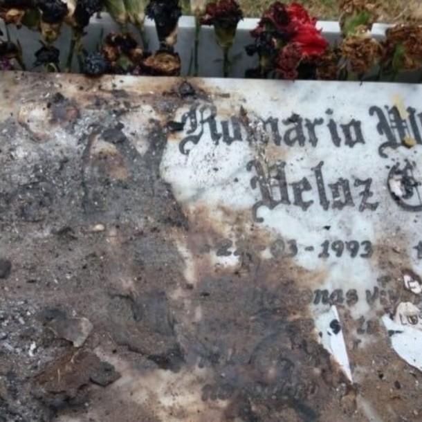 Queman memorial de joven muerto durante Estado de Emergencia en La Serena