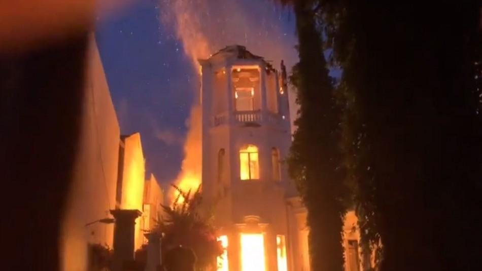 Nuevo incendio se registra en casona de la Universidad Pedro de Valdivia
