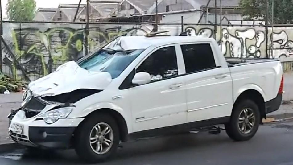 Choque entre camioneta y un triciclo deja un muerto en Estación Central