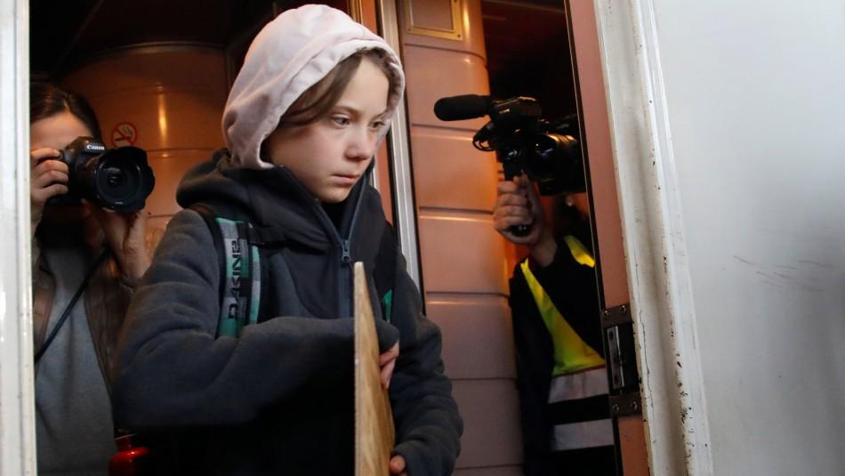 Greta Thunberg llega a Madrid para marcha por el clima: