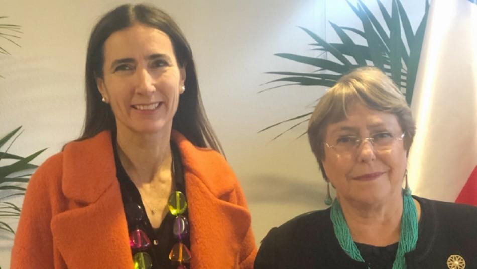 Expresidenta Michelle Bachelet se reunió con la ministra Carolina Schmidt en la COP25