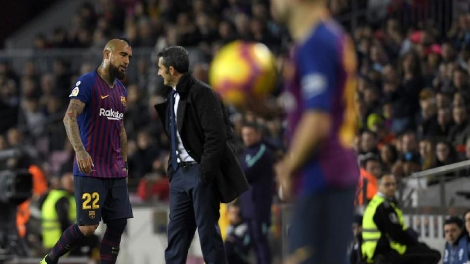 Arturo Vidal enciende movidas en Barcelona.