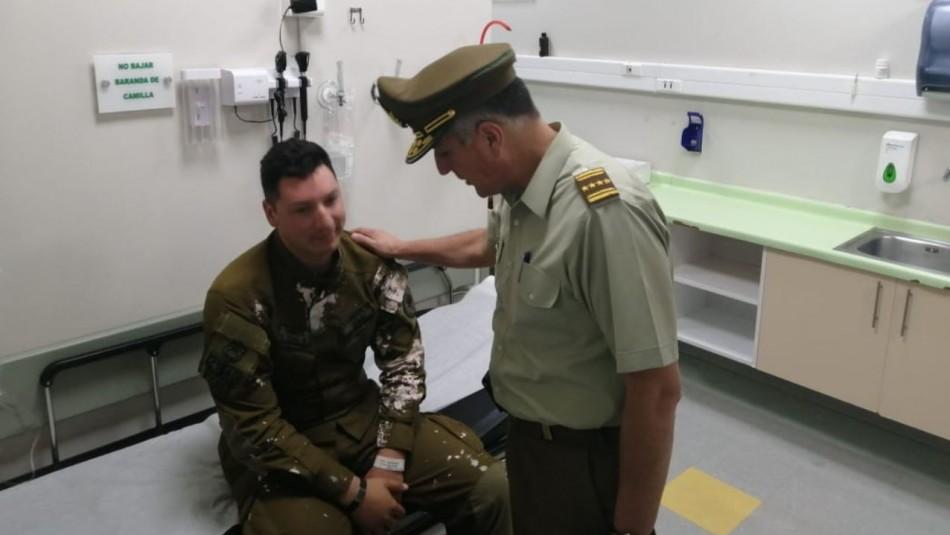 General Rozas visitó a carabineros lesionados durante última jornada de protestas en Santiago