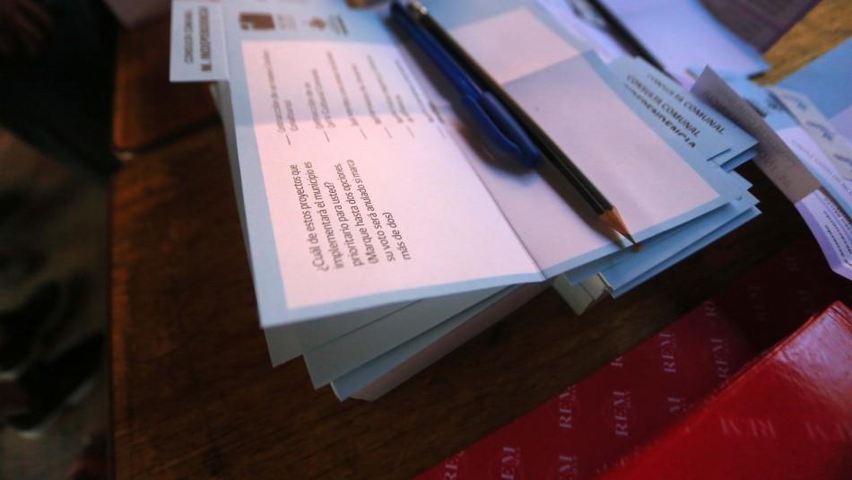 Primer escrutinio de consulta ciudadana: Amplio respaldo a favor de una nueva Constitución