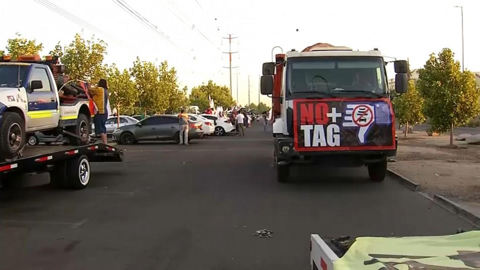 Nueva movilización de NO+TAG se desplaza hacia el oriente de Santiago
