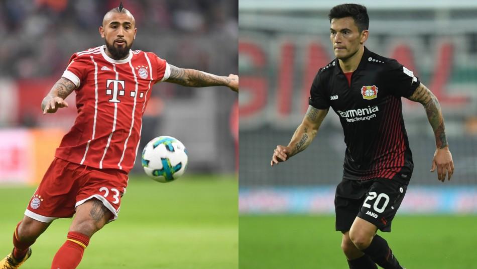 Vidal y Aránguiz integran el equipo ideal latino de la década en la Bundesliga