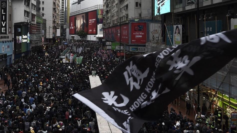 Hong Kong se prepara para una gran manifestación de Año Nuevo