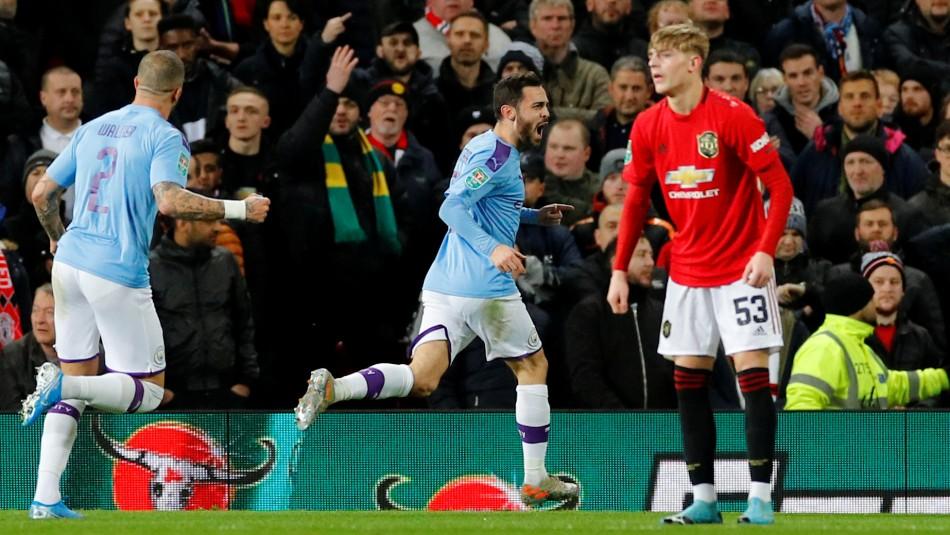 Sigue el partido Manchester United vs. Manchester City en la Carabao Cup ¡Claudio Bravo titular y goles!