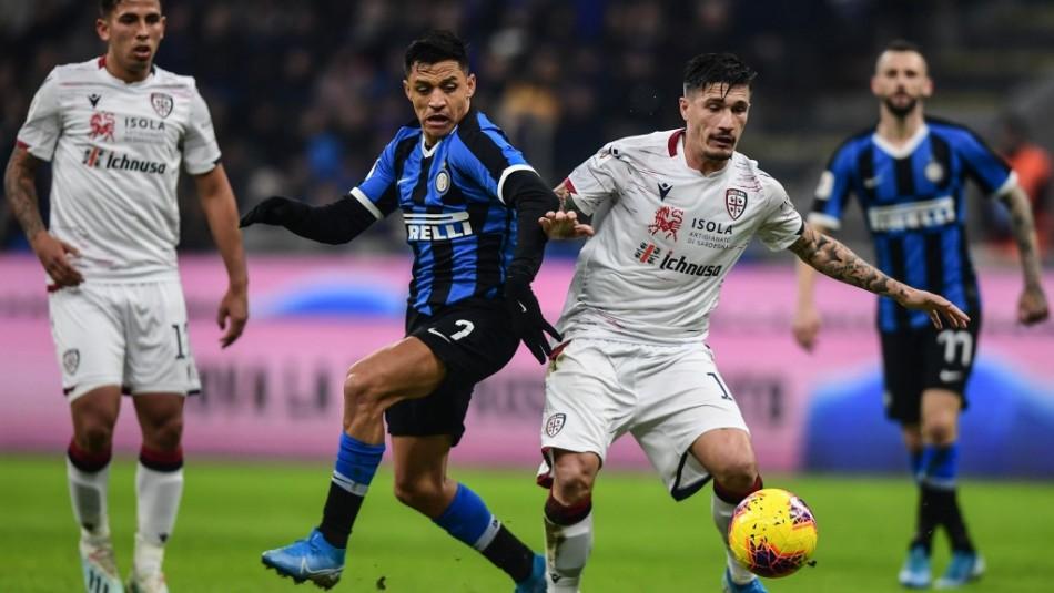 Alexis Sánchez regaló gran jugada y fue ovacionado en su regreso en triunfo del Inter por Copa Italia