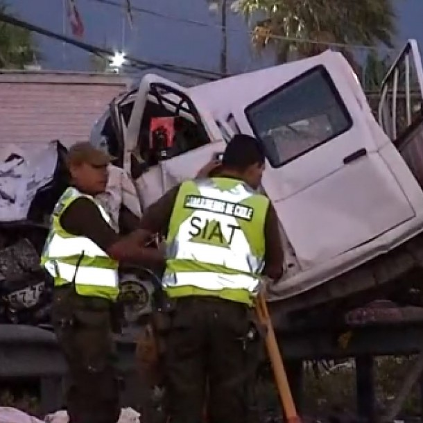 Fatal accidente de tránsito genera gran congestión vehicular en Vespucio Norte