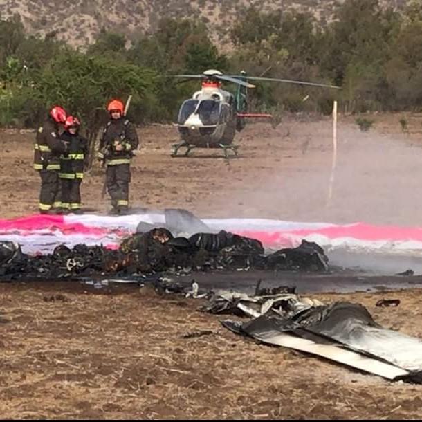 Fallecidos en caida de avioneta en Colina eran alumno e instructor
