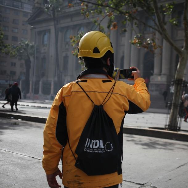 INDH reporta 1.080 acciones judiciales y 2.063 heridos por disparos desde el estallido social