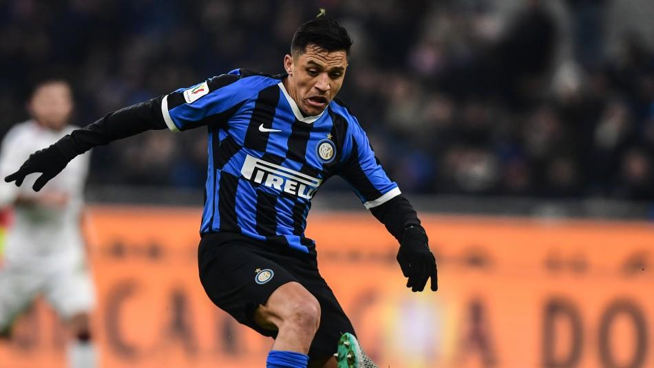 Alexis Sánchez sumó minutos en empate de Inter de Milán en la Serie A