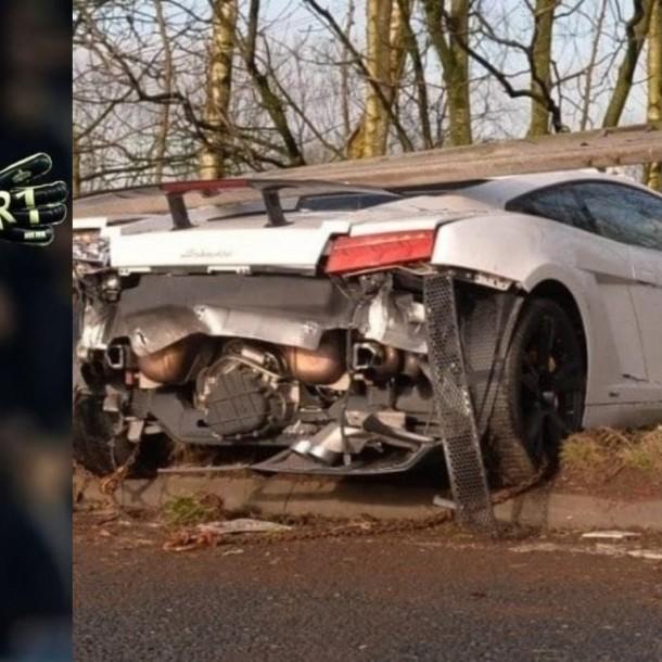 Arquero del Manchester United sufre grave accidente en Inglaterra al chocar su Lamborghini