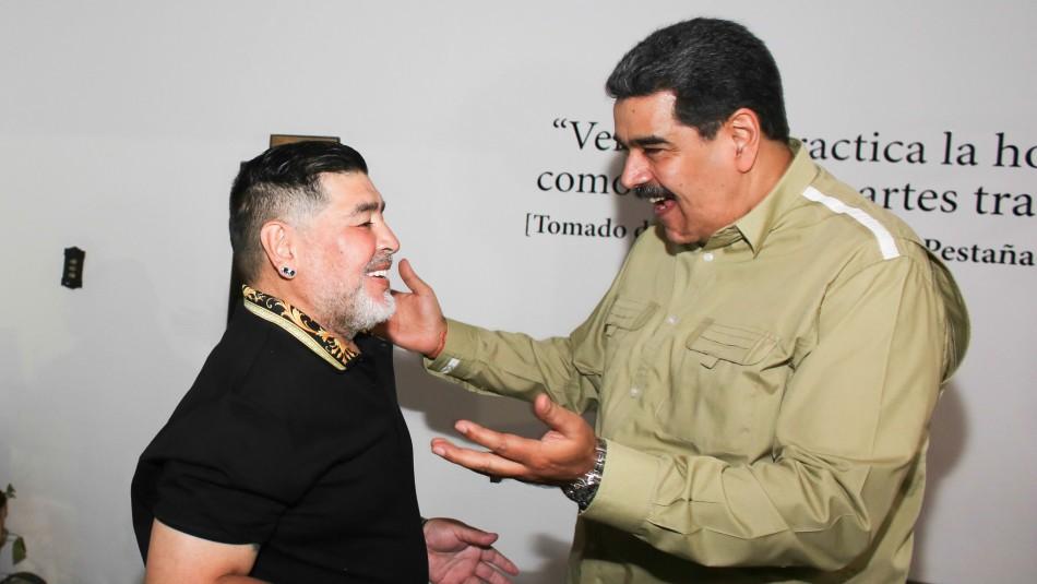 Diego Maradona se reunió con Maduro,