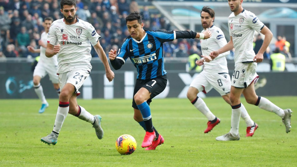Alexis Sánchez sumó minutos en empate del Inter en la liga italiana