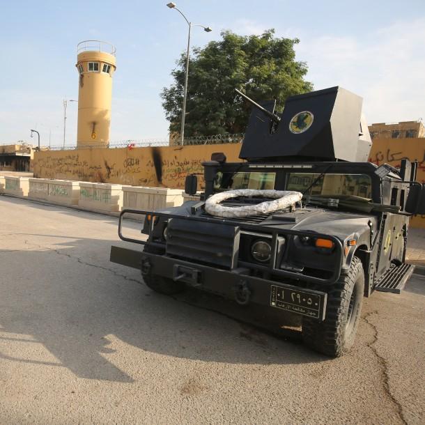 Reportan que varios cohetes cayeron cerca de la embajada de Estados Unidos en Bagdad