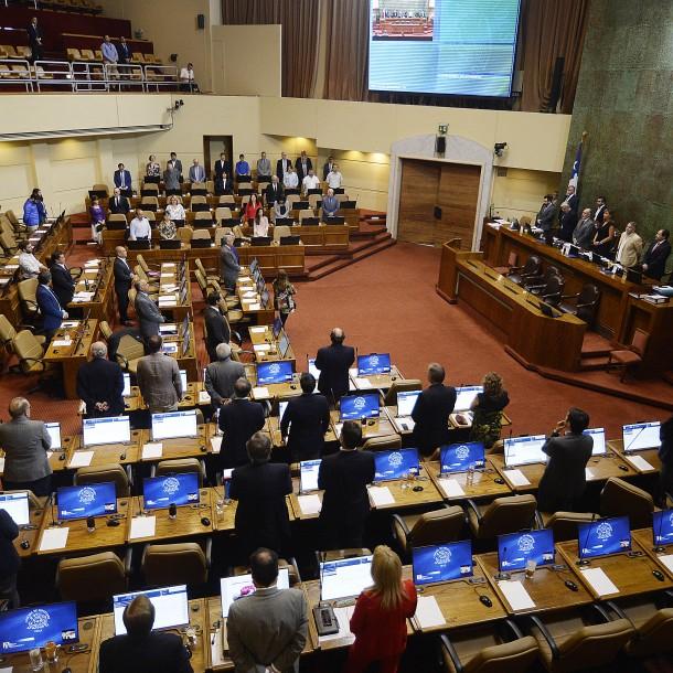 Cámara de Diputados rinde minuto de silencio por muerte de hincha colocolino