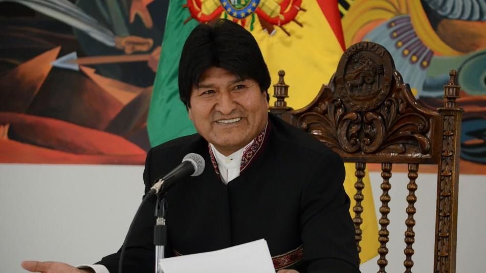 Evo Morales formalizó su candidatura al Senado de Bolivia