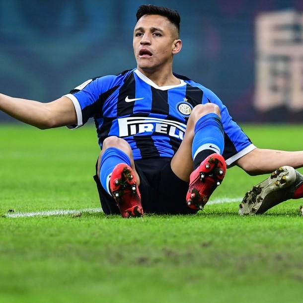 Alexis Sánchez jugó los últimos minutos en derrota del Inter de Milán