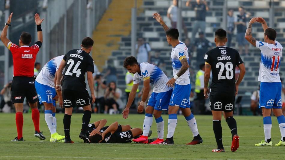 Por incidentes se suspendió el clásico: La UC derrotaba a Colo Colo en el Monumental