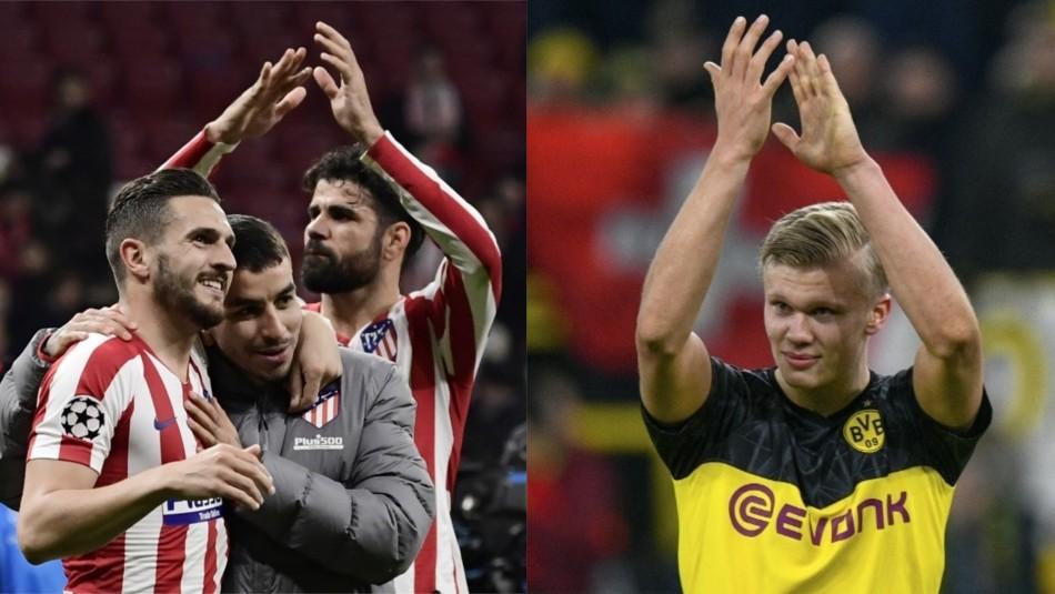 Atlético venció a Liverpool y Borussia Dortmund sacó ventajas a PSG en inicio de octavos de final en Champions