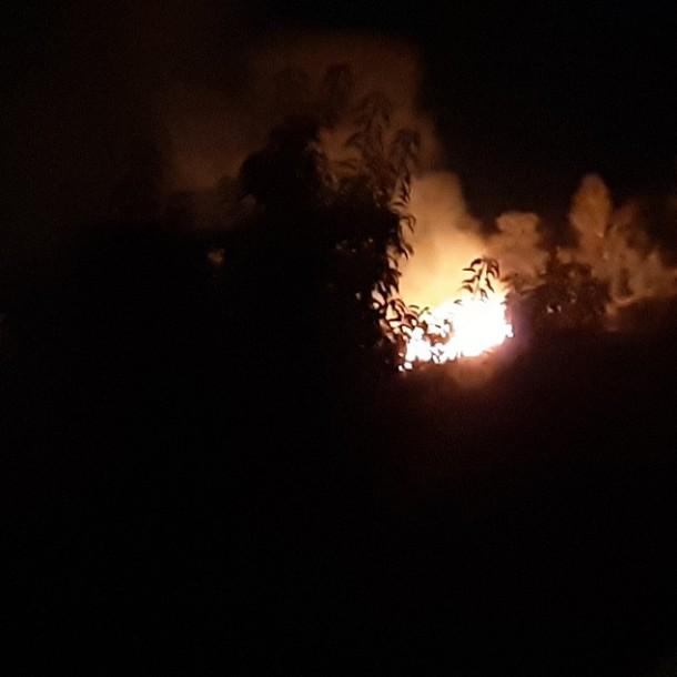 Incendio afecta a ladera del cerro San Cristóbal