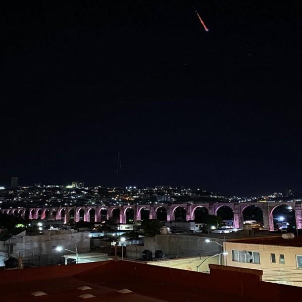Reportan avistamiento de un meteorito en México