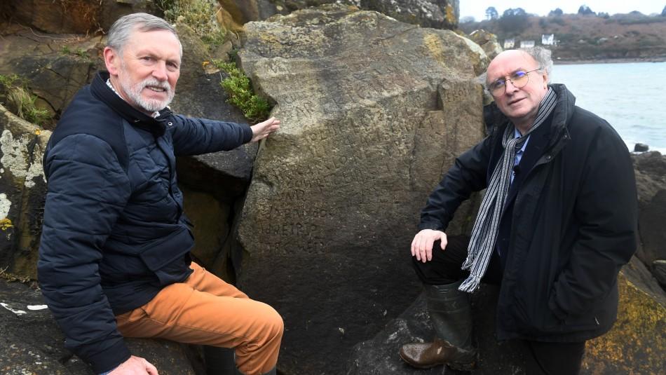 Descifran misterioso grabado en roca de hace 250 años