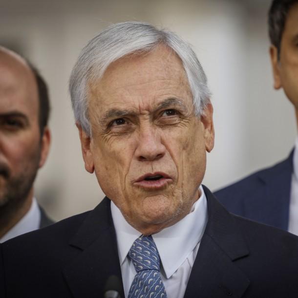 Piñera reitera llamado contra la violencia:
