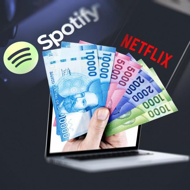 Nueva ley: Ahora empresas como Netflix o Spotify deberán pagar impuesto del 19% en Chile
