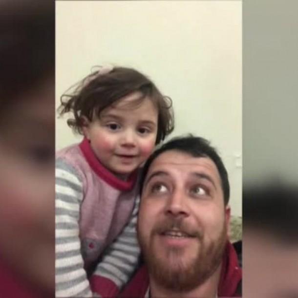 Padre e hija protagonistas de video viral logran salir de Siria y escapar de la guerra
