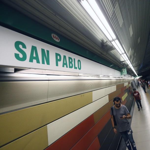 Cierran Estación San Pablo del Metro por manifestaciones en el exterior
