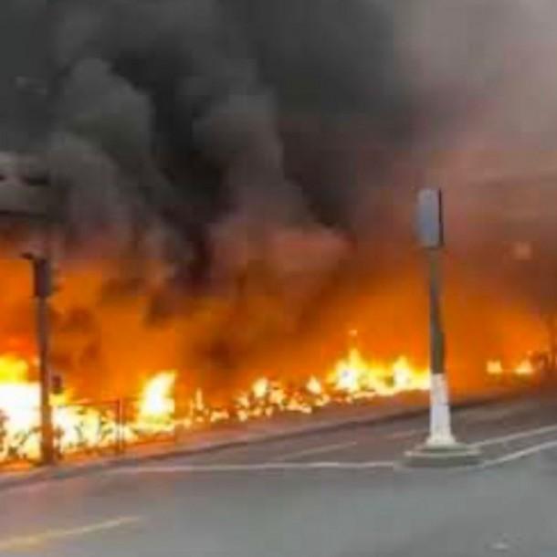 Incidentes en París tras concierto provocan incendio y evacuación de estación de trenes