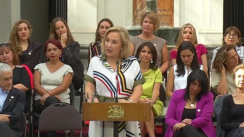 Cecilia Morel en el Día de la Mujer: