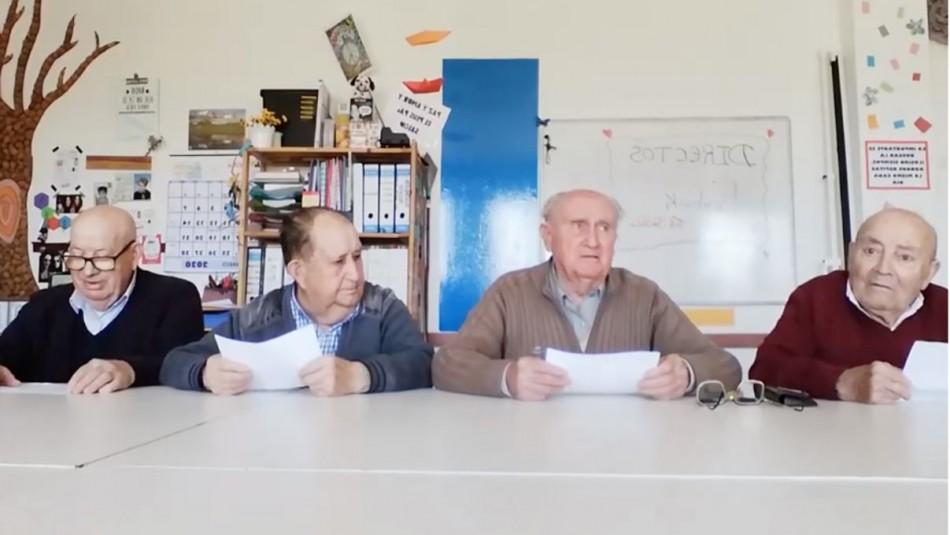 Para mantener el ánimo: Ancianos realizan noticiero sobre el coronavirus desde hogar donde se encuentran