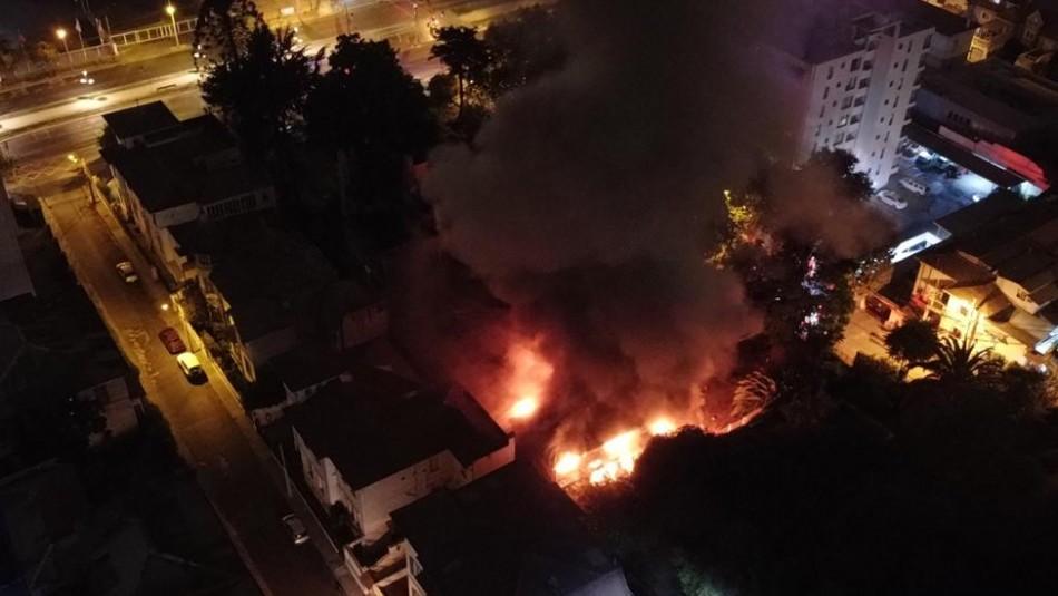 Viña del Mar: Incendio afecta nuevamente a la emblemática Casa de Italia